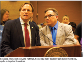 Supports, special education funds fall to governor's veto pen